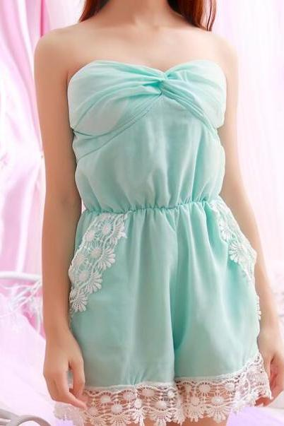 2017 Summer Candy Color Sleeveless Romper Playsuit